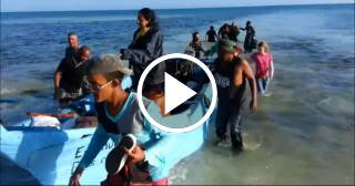 Las autoridades cubanas detienen a 17 balseros en Guanabo