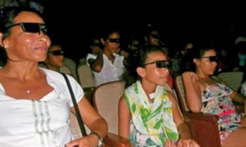 Espectadores de la Isla de la Juventud disfrutan del cine en 3D